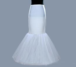 China Whole Sale In Stock Plus Size One 1 Hoop Petticoat Slip Crinoline For Mermaid Wedding Dresses Underskirt Women cheap petticoats mermaid wedding dress suppliers