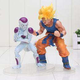 Discount frieza figures - 2Pcs  Lot 11-14Cm Son Goku Frieza Cartoon Dragon Ball Z Pvc Action Figures Anime Children Toys