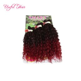 best curling hair machine NZ - 6pcs lot SMART BEST QUALITY synthetic weft hair ombre color Jerry curl crochet hair extensions crochet braids hair weaves marley twist