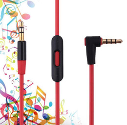 Discount audio cable for cell phone - 90 degree Aux Audio Cable Auxiliary Cable 3.5mm with mic for cell phone for MP3 MP4 For Aux Car Extention Cable
