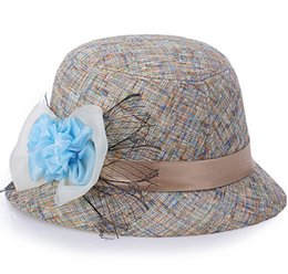 Discount cheap kentucky derby hats - Newest Design 2016 Hot Sales Cheap Nice New Fashion Women Flax Flower Hat Bowler Billycock Cap