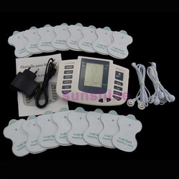 full body pulse massager NZ - 16 Pads Electrical Stimulator Full Body Relax Muscle Therapy Massager Massage Pulse tens Acupuncture Health Care Slimming Machine