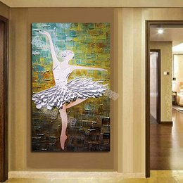 Discount dancer wall art - Ballet dancer hand painted figures oil painting on canvas modern popular home wall art decoration paintings gift