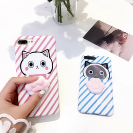 cute soft cat cases 2019 - wholesale free shipping, Lovely Cute 3D Soft Cat Claw TPU Silicone Phone Case, Cartoon Back Cover, For iPhone 6 6S 7 Plu