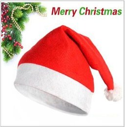 Free Christmas Gifts For Children Australia - HOT Christmas hat Christmas Cosplay Hats Christmas cap Santa Claus hat Christmas Cosplay Hats For Adults and Children gift Free DHL FedEx