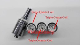 $enCountryForm.capitalKeyWord UK - D-CORE Triple coils wax Quartz atomizer Ceramic Cotton rob wax vaporizer wax cartomizer electronic Cigarette VS Dual Coil Skillet Cannon