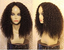 Deep Curly Indian Lace Wig Australia - Best brazilian deep curly human hair wigs lace front wigs virgin glueless curly full lace wigs for black women 130%density