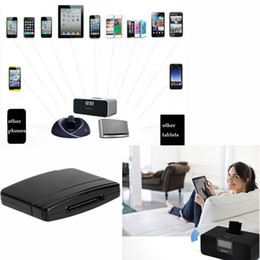 Receiver For Speakers NZ - TOP Quality A2DP Bluetooth Music Audio 30 Pin Receiver Adapter for iPod iPhone iPad Speaker Dock Black Audio Music Receiver
