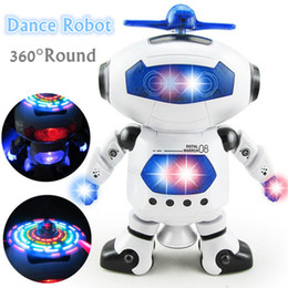 Electronics Dance Music Canada - 2017 New Smart Space Dance Robot Electronic Walking Toys With Music Light Gift For Kids Astronaut Toys For Children
