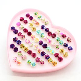 cute jewelry for sale NZ - Hot Sale New 11 Styles Earrings for Women Fashion Jewelry Stud Earring Colorful Resin Flowers Earrings Cute Hypoallergenic 4538
