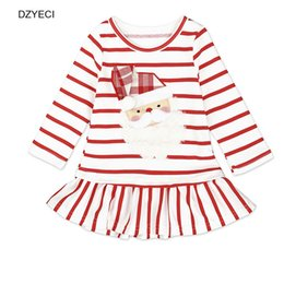 $enCountryForm.capitalKeyWord Canada - Christmas Costume For Baby Girl Dresses Santa Claus Deer Pageant Xmas Children Striped Cotton Party Princess Tunic New Year Kid Clothes