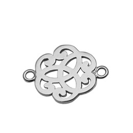 $enCountryForm.capitalKeyWord NZ - Beadsnice Sterling Silver Filigree Connector Pendant Link Jewelry Findings Cloud Shape Filigree Component for Necklace Making ID 34874