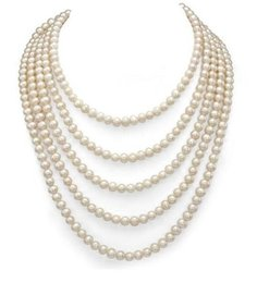$enCountryForm.capitalKeyWord UK - 6-7mm White Natural Freshwater Pearl Necklace 100 inch Single Strand
