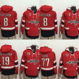 ed706e1c1 ... Hockey Red Hoodie Mens Washington Capitals Hoodies Jersey 8 Alex  Ovechkin 19 Nicklas Backstrom 77 T.J. Oshie 100% 2017 ...