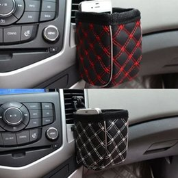 Car storage Cell phone online shopping - Mini Car Tuyere Grocery Bags organizer Car Bag Cell Phone Pocket Car Pouch Glove Black Red Car Storage Outlet