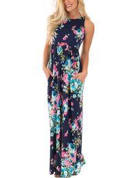 China 2017 New Arrival Women Bohemian Dress Summer Pocket Design Short Sleeve Mint Floral Long Multicolor Dress KD-048 cheap mint green casual dresses suppliers