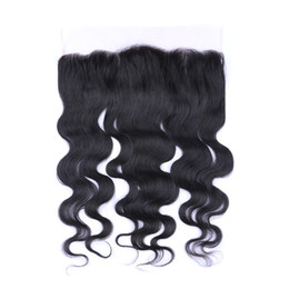 $enCountryForm.capitalKeyWord UK - 9A Malaysian Hair Silk Base 4x4 Lace Frontal Closure 13x4 With Baby Hair Bleached Knots Unprocessed Body Wave Lace Frontal For Woman