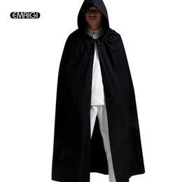 Wholesale- Men Women Linen Hooded Cardigan Trench Coat Male Casual Long  Cloak Trench Jacket Mens Windbreaker Halloween Clothing 7c666259d