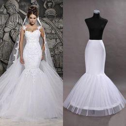 Hoop petticoats underskirts online shopping - One Hoop Petticoat Crinoline For Mermaid Wedding Prom Party Dresses Flounced Mermaid Petticoat Underskirts Slips Bridal Accessories