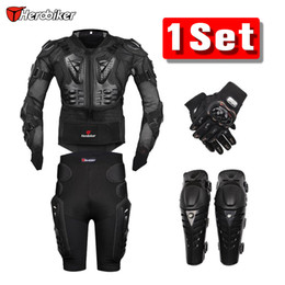 $enCountryForm.capitalKeyWord NZ - New Moto Motorcross Racing Motorcycle Body Armor Protective Jacket +Gears Short Pants +Protective Motorcycle Knee Pad +Gloves