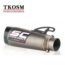 $enCountryForm.capitalKeyWord Canada - TKOSM 2017 High Quality 51MM 60MM Universal SC Modified Exhaust Pipe Motocross Muffler for S1000 S1000R S1 Motorcycle 000RR BMW with Sticker