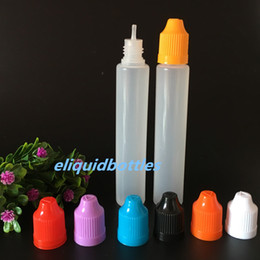 Dripper Pen Australia - Empty Bottle 30ml PE Dropper Pen Style Unicron E Liquid Dripper Bottle 30 ml with Colorful Caps And Long Thin Tip for ejuice
