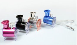 Wholesale Small Hookah Metal Smoking Pipes Mini Portable Bongs Two Function Oil Rigs Smoking Accessories