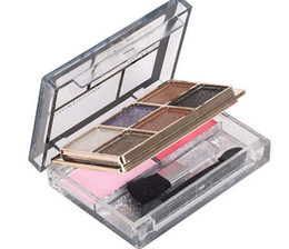 waterproof palette UK - 8 color eye shadow + color blush Smoked makeup Nude makeup diamond bright eye shadow palette pearl Glitter eyeshadow with brush Makeup tools