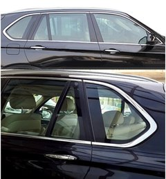 Sill Bmw Canada - 10pcs Stainless Steel Door Full Window Sill Frame Molding Trim For BMW X5 E70 2008-2013 Free