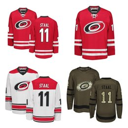 timeless design f288b 578a8 ... Hot Sale 2016 New Mens Carolina Hurricanes Jerseys 11 Jordan Staal Black  White Brown Ice Hockey ...