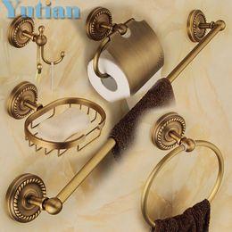 Wholesale Free Shipping,solid Brass Bathroom Accessories Set,Robe  Hook,Paper Holder,Towel Bar,Soap Basket,bathroom Sets,YT 12200 5