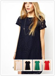 $enCountryForm.capitalKeyWord NZ - Dress for Spring Autumn Winter new Dress Fashion round neck short Sleeve Dress Slim Dress Ladies Tunic Casual LYQ35-Dress-An