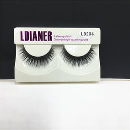 Fur False Eyelashes Canada - 3D False Eyelashes Handmade Natural Hair Long Thick Mink Fur Eyelash Fake Eye Lashes Extensions Black Strip Lash High Quality LD204 Free DHL