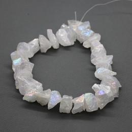 $enCountryForm.capitalKeyWord Australia - Natural White crystal Titanium AB Crystal Quartz beads, Raw Healing Gemstone Spikes Top Drilled Briolettes Rock, Women Necklace Beads