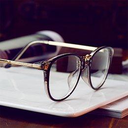 Rims Alloys Canada - Wholesale- Round Full-Rim Glasses Frame Unisex Vintage Eyeglasses With Alloy Legs For Myopia Glasses kly2902