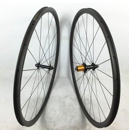 Light Weight Bikes Canada - 700C 30mm depth light weight full carbon bike tubeless clincher road wheelset super quality wider wheels for cycling freeshipping now