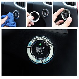 ford mondeo accessories 2019 - Luminous Alloy Car Ignition Switch Cover Auto Car Accessories Stickers for Ford Mondeo 2.0T Edge Car Styling EA10601