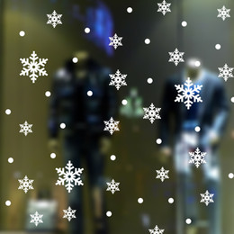 Christmas Window Stickers For Shops Canada - M-2 Christmas Snowflake Vinyl Wall Stickers Home Decor Vinyl Xmas Snowflake Wall Decal Removeable Decal for Baby Kids Shop Window