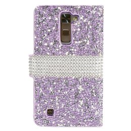bling credit card UK - Hybrid Bling Rhinestone Diamond PU Leather Wallet Cover Case Credit Card Slot for LG G5 V10 Stylus 2 LS775 G Stylo LS770 LS996