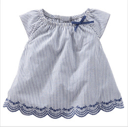 wholesale clothing fast shipping Canada - Girls Shirt Baby Girl Skirt Girls Tops Blouses Ruffle Princess Short Sleeve 2018 New Summer T Shirts Babys Clothing Fast Shipping