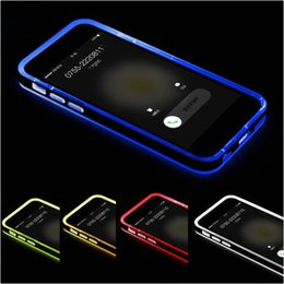 iphone led back Canada - Hybrid incoming calls flash Up Clear TPU PC Case light LED Back Cover for iphone 6 6S plus 5S SE 4S Samsung Galaxy S6 S5 note 4 3 A5 A7