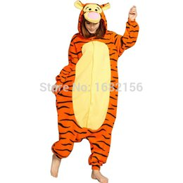 Barato Onesie Do Tigre Dos Adultos-Bear New Style Tiger Adulto Onesie Unisex Animal Lovely Costume Cosplay Costumes Lovers Pijamas