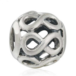 $enCountryForm.capitalKeyWord NZ - Infinite Love Openwork Charms Bead Authentic 925-Sterling-Silver Eight Beads Fits DIY Brand Logo Bracelets Jewelry Making Accessories