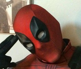 Wholesale New hot High Quality New Deadpool Mask X Men Superhero Deadpool Halloween Cosplay Party Headwear Hood Full Face Mask w D Eyes Design