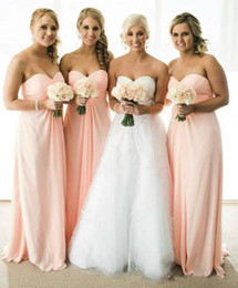 cheap pregnant beach wedding dresses 2019 - Cheap Baby Pink 2016 New Simple Bridesmaid Dresses Summer Beach Long Empire Maternity Pregnant Wedding Party Maid Of Hon