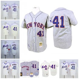 mitchell and ness 41 tom seaver baseball jerseys 2017 new york ny mets 1969 throwback mens