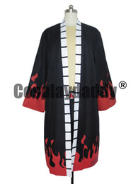 Barato Traje Cosplay-One Piece Cosplay Portgas D Ace Trench Coat Suit Costume