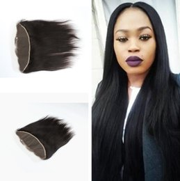 """Discount lace frontal closure 13x2 - huihao_hairs Peruvian Lace Frontal Closure Human Hair 13x2""""&13x4"""" Bleached Knots Virgin Straight Full Lace Fro"""