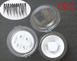 Top False Eyelashes Australia - Top Quality 3D Magnetic False Eyelashes Extension Magnetic Eyelashes Makeup Soft Hair Magnetic Fake Eyelashes with retail packaging 50 lots