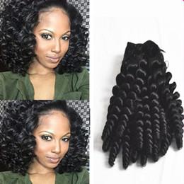 Discount romance curls human hair weave - Sexy Unprocessed Brazilian Aunty Funmi Virgin Hair Weaves,Romance Sprial Curly Human Hair Weft,Natural Black Aunty Fumi